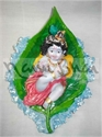 Picture of Krishna Baby on Peepal Leaf