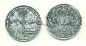 Picture of Laxmi Ganesh Shri Yantra Coin
