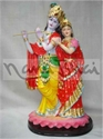 Picture of Radha Krishna Lotus Pallu