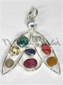 Picture of Navratna 2 Eye V Pendant