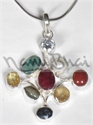 Picture of Navratna 4 Point Pendant