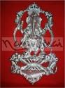 Picture of Ganesh Dancing Lotus Taj Frame